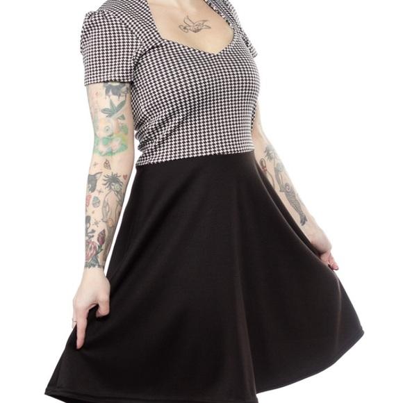 Steady Houndstooth Dress Pinup Rockabilly Modcloth 5b5f18c19